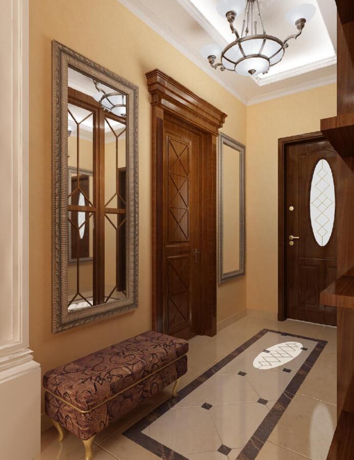 Прихожая с окном в доме дизайн